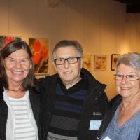 Margareta avec l'artiste Daniel Leray et son epouse