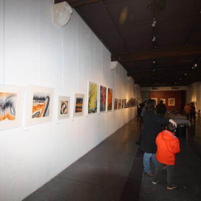 Une vue du premier niveau de l'exposition